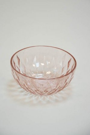 Rosa glasskål