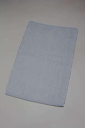 Stof dækkeserviet i blå og hvid