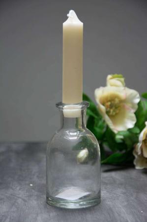 Glasflaske - kan bruges som lysestage eller vase