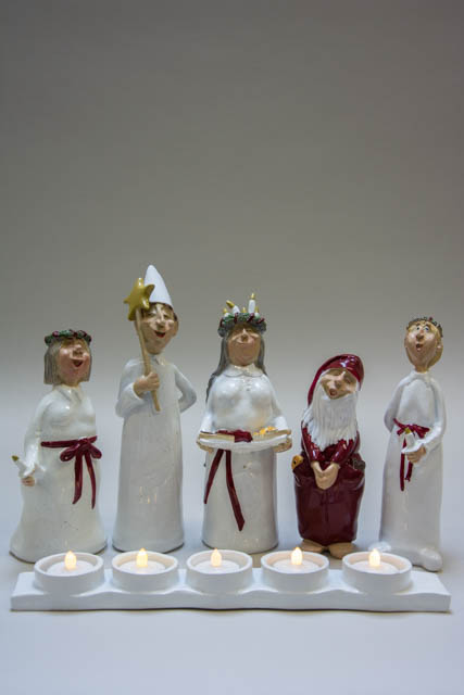 Harvesttime julestage - luciaoptog med julemand