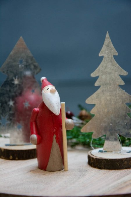 Julepynt 2017 - julemand med stok