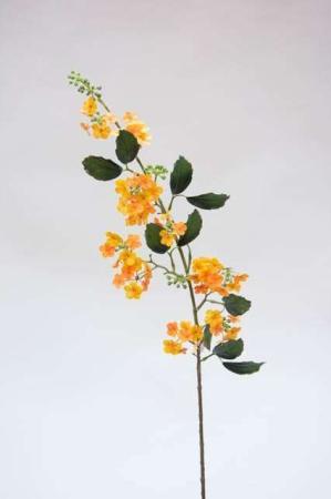 Kunstig blomstrende gren med gule blomster - Kunstig gren med blomster