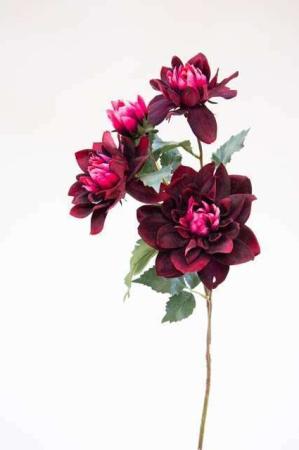 Kunstig bordeaux blomst - Afskårne blomster - Blomster til buketter