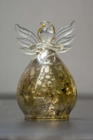 Glas engel - guld