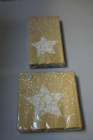 Guld servietter med stjerne