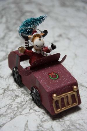 Juleophæng - Elg i bil