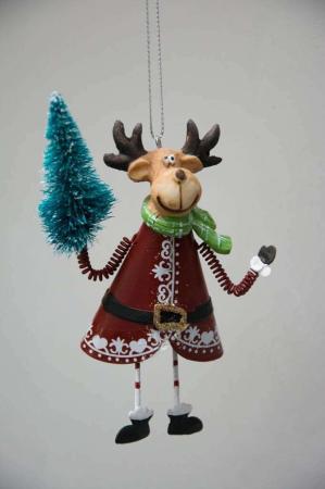 Juleophæng - elg med juletræ