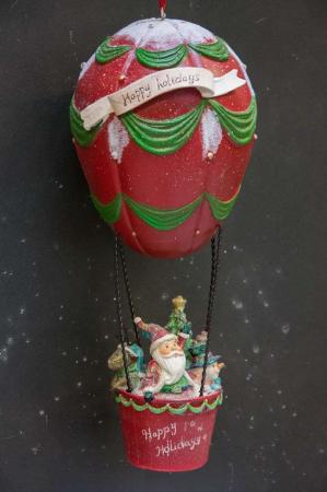 Julepynt 2017 - julemand i luftballon med venner
