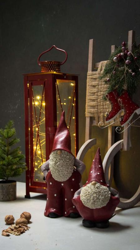 Julepynt - Udendørs lanterne med lyskæde