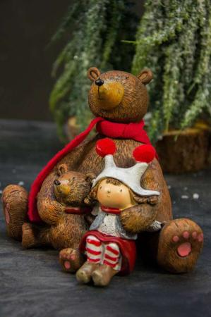 Julepynt - bjørn med baby bjørn og barn
