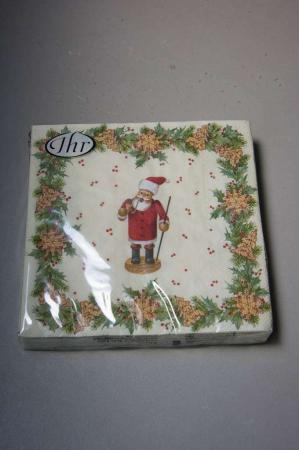 Juleservietter med julemandsfigur