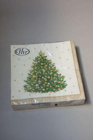 Juleservietter med juletræ - guld