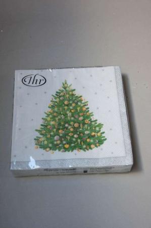 Juleservietter med juletræ - sølv