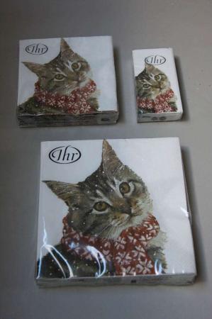 Juleservietter med katte