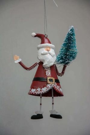 Juletræspynt - julemand med juletræ