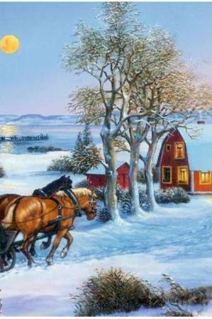 Låge julekalender julekort - til voksne og børn
