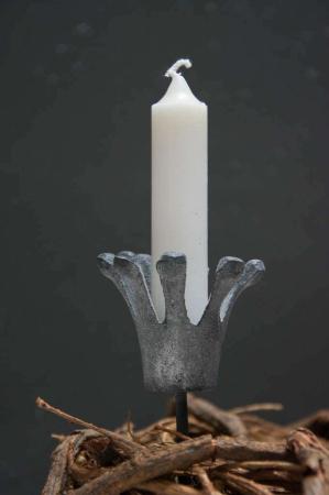 Lysholder Lys spyd krone støbejern