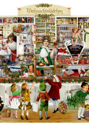 Norstalgisk gammeldags låge julekalender til børn og voksne