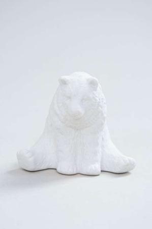 Pynte figur - hvid bjørn