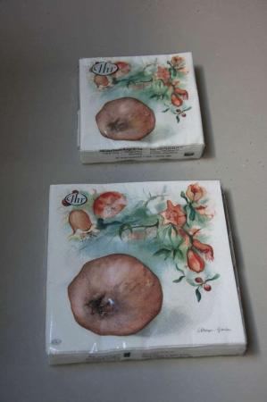 Servietter med granatæbler