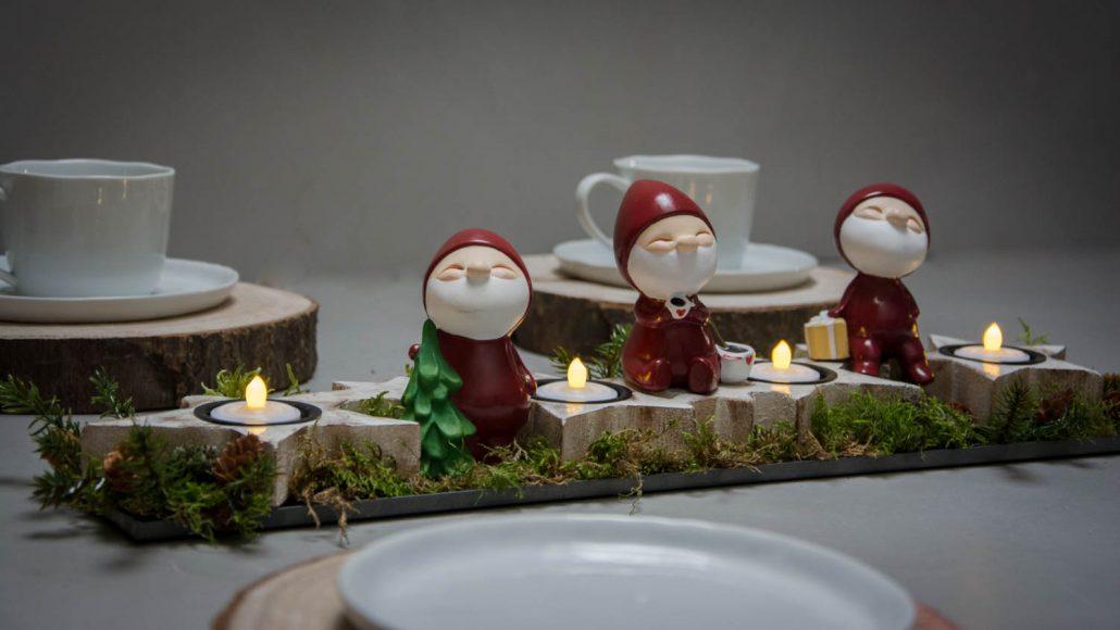 Adventsdekoration - adventsstage til fyrfadslys