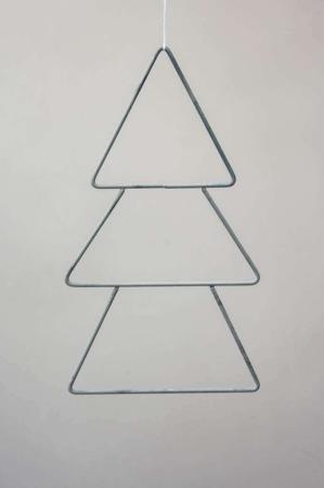 Enkel metal juletræ