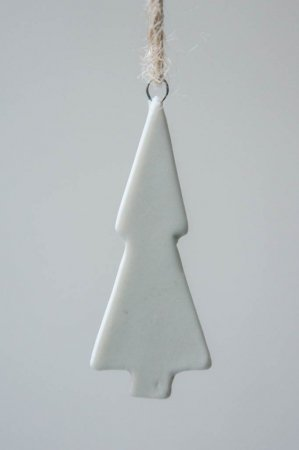 Juleophæng - lille hvidt juletræ