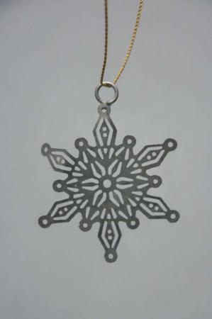 Juleophæng - zink stjerne i messing tråd