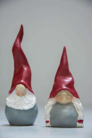 Julepynt 2017 - nisser - santa high hat og kone