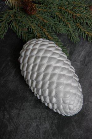 Julepynt - Hvid kogle