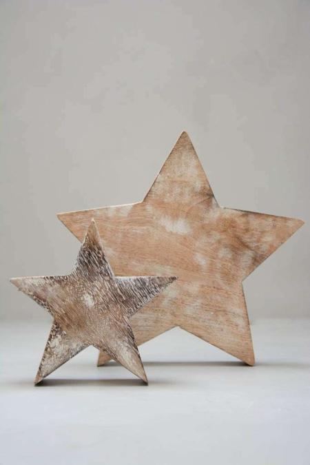 Julepynt - stjerner af træ