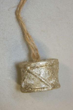 Juletræspynt - lille gylden tromme