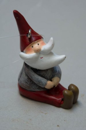Juletræspynt - nisse med skæg