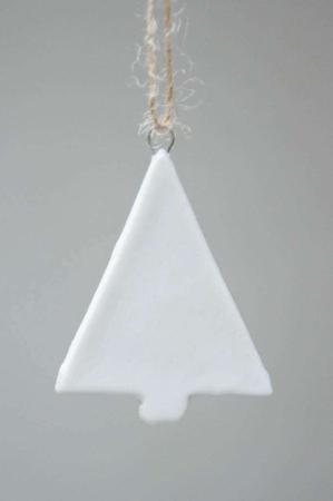 Lille hvidt juletræ - juleophæng