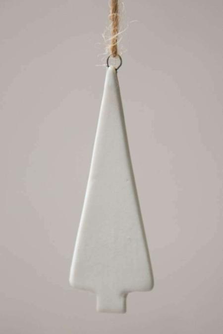 Lille hvidt juletræ - juletræspynt