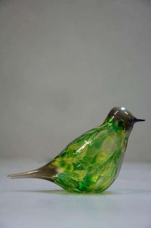 Glasfigurer - glasfugl - majgrøn