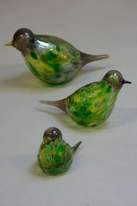 Glasfigurer - glasfugle - majgrøn