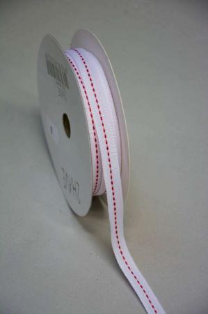 Hvidt bånd med rød stribe