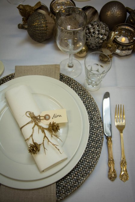 Jule bordpynt - guld