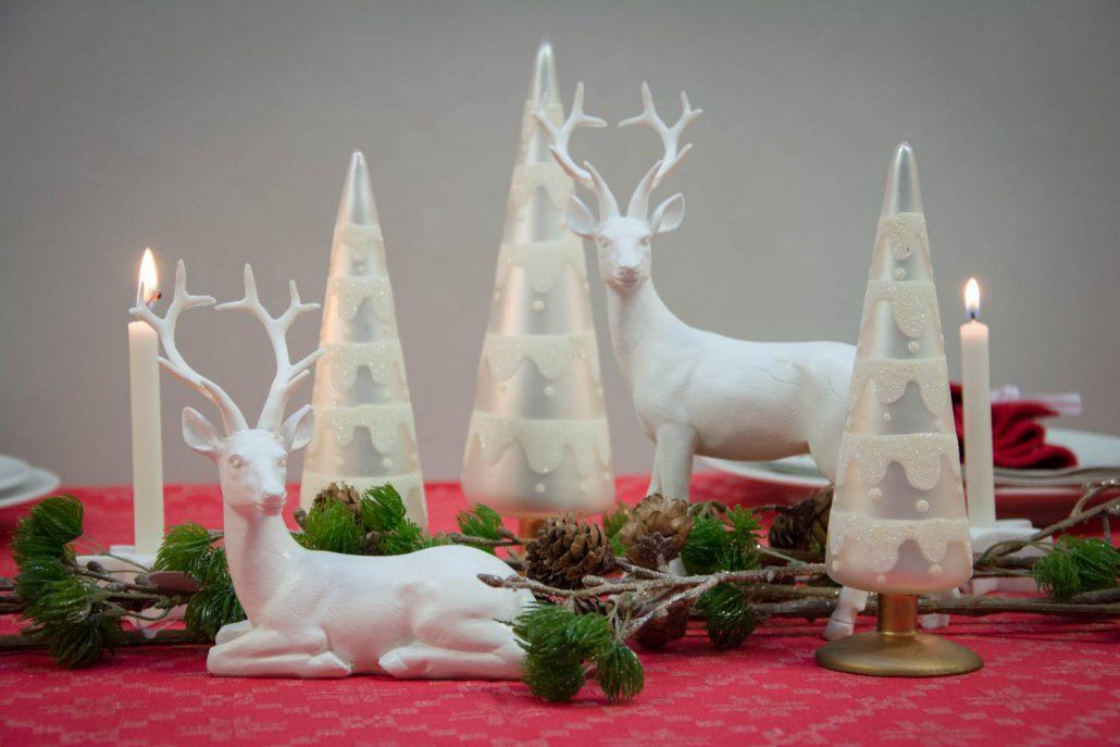 Jule bordpynt - rød og hvid