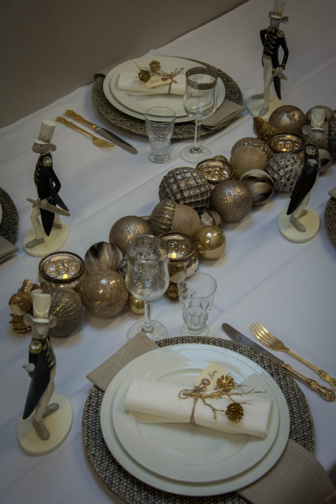 Julebord dekoration - guld