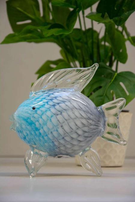 Glasfigur - glas fisk