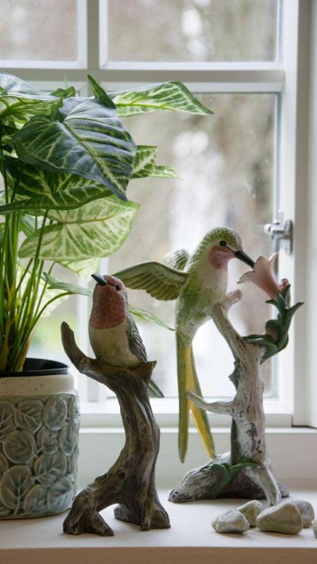 Pynt til vindueskarmen - figurer af kulibri