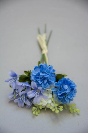 Kunstige blomster - lille buket af lilla blomster