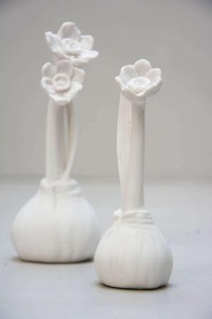 Påskepynt - Påskeliljer i keramik