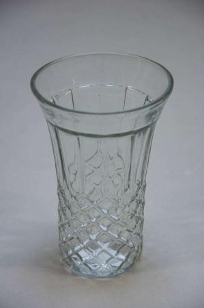Glasvase med slibninger