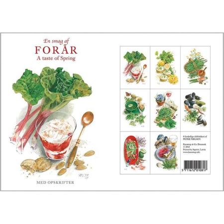 Kort med kuvert - En smag af forår - opskrifter