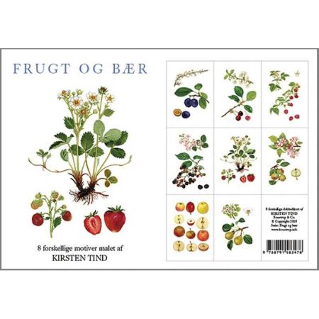 Kort med kuvert - Frugt og bær kort