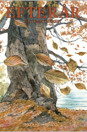 Kort med kuvert med efterårs motiver