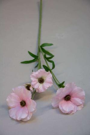 Kunstig blomsterkvist - japansk ranunkel - rosa